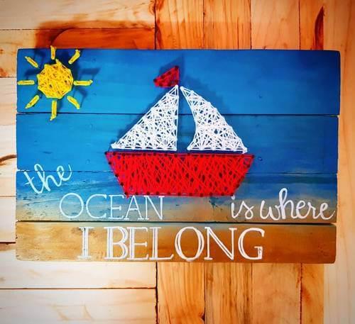 Yacht String Art