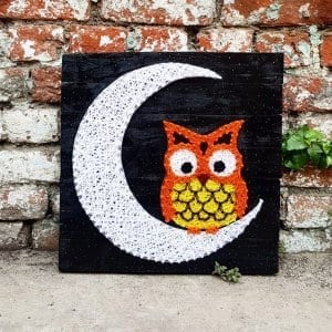 night owl string art by sonal malhotra