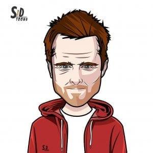 Aaron Paul Breaking Bad Caricature
