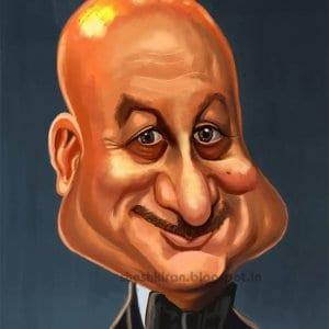 Anupam Kher Caricature