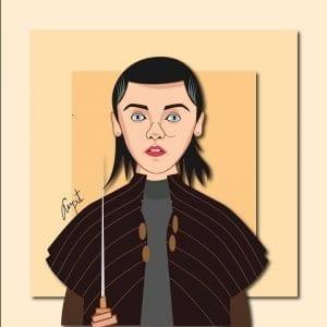 Arya Stark GOT Caricature