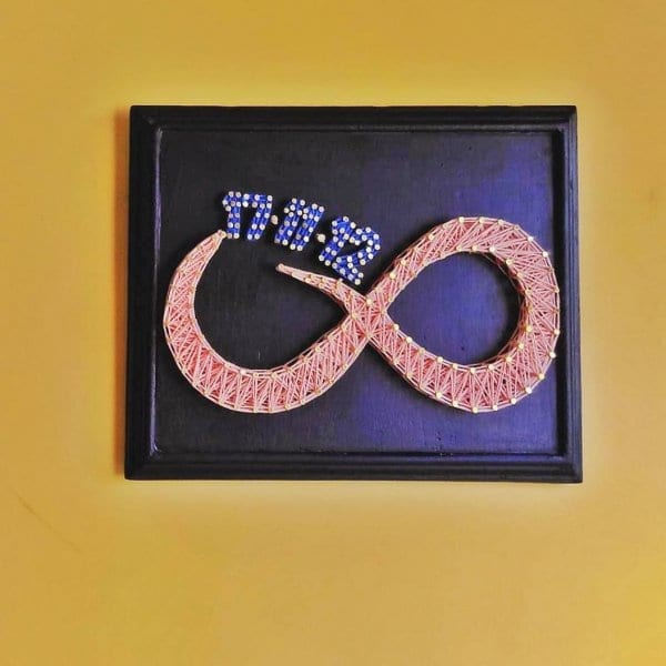 Birthday Infinity String Art