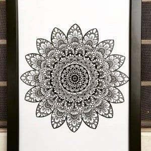 Circular Mandala Flower Frame