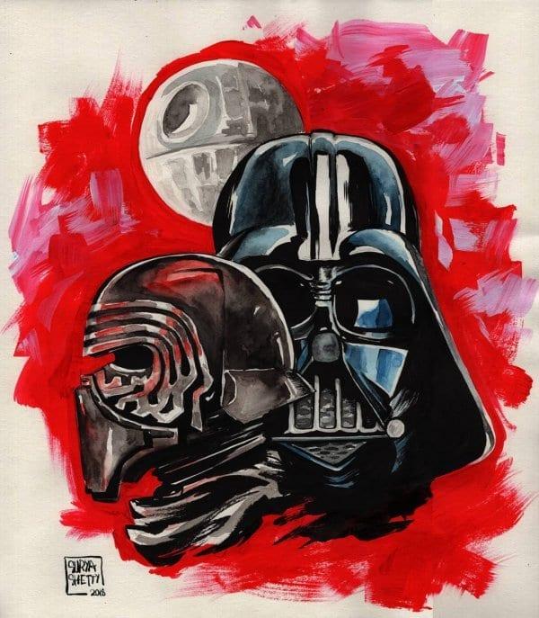 Darth Vader Watercolour Portrait by Surya Shetty