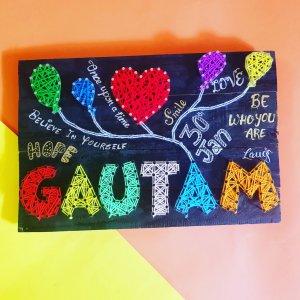 Gautam's Name String Art by Sonal Malhotra