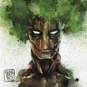 Groot Watercolour Portrait by Surya Shetty