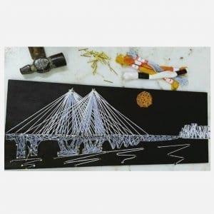 Iconic Worli Sealink Mumbai String art