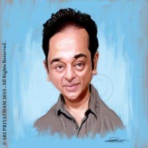 Kamal Hassan Hyper Realistic Caricature