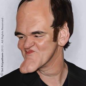 Quentin Tarantino Hyper Realistic Caricature