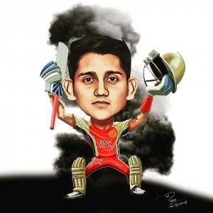 RCB IPL caricature
