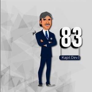Ranveer Singh as Kapil Dev Caricature