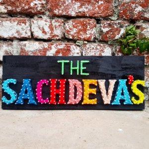Sachdeva's Nameplate String Art by Sonal Malhotra