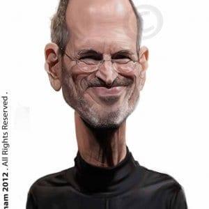 Steve Jobs Hyper Realistic Caricature