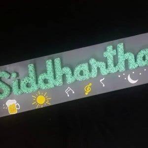 siddhartha nameplate string art
