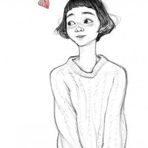Teen Girl Caricature