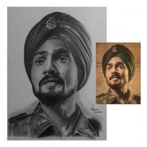 Bhuvan Bham Pencil Portrait Hyper Realistic Portrait-Siddhant