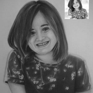 Girl Pencil Portrait Hyper Realistic Portrait-Siddhant