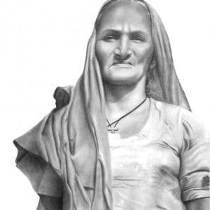 Grandma Pencil Portrait by Monica