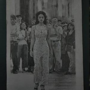 Monica Bellucci Pencil Portrait by Virender