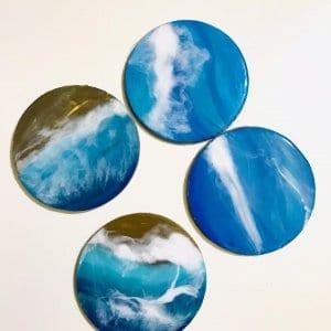 Resin Art Fridge Magnets (Set of 4)