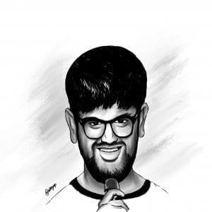 Siddharth Dudeja Caricature by Jay