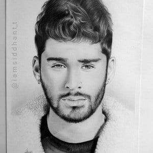 Zayn Malik Hyper Realistic Pencil Portrait- Siddhant