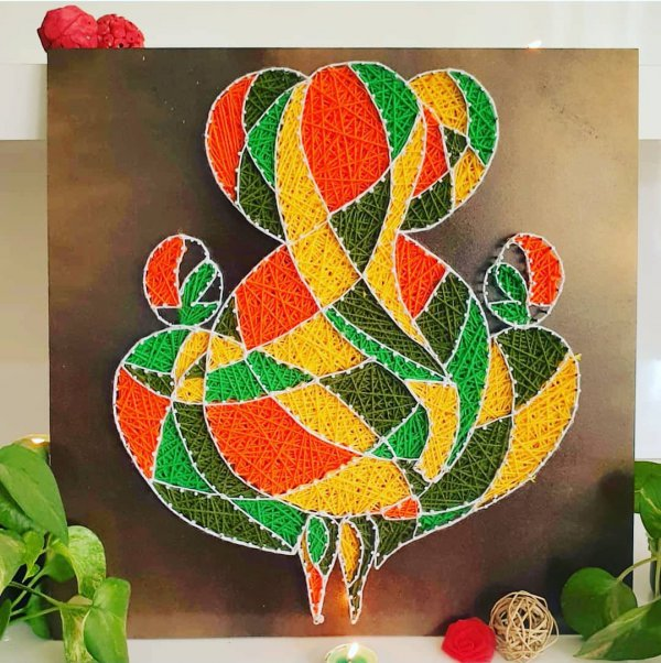 Abstract Ganesha String Art by Sonal Malhotra